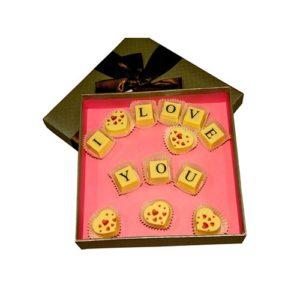 """Шоколадное послание """"I love you"""""""